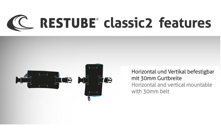 RESTUBE Rettungsboje Classic, petrol-blue