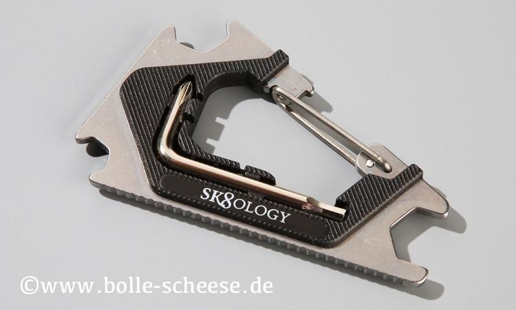 Sk8ology Karabiner Skatetool 2.0, silver-black